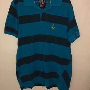 Other - Blue and Navy Blue Striped Button Up